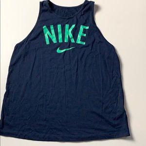 Nike Dri Fit Tank Top Size M Dark Blue